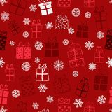 Seamless pattern of gift boxes Stock Image
