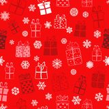 Seamless pattern of gift boxes Stock Photography