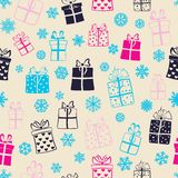 Seamless pattern of gift boxes Royalty Free Stock Photography
