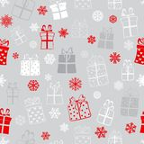 Seamless pattern of gift boxes Royalty Free Stock Image