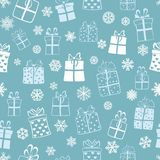 Seamless pattern of gift boxes Stock Photo