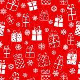 Seamless pattern of gift boxes Royalty Free Stock Photos