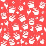 Seamless pattern with gifts Royalty Free Stock Photo