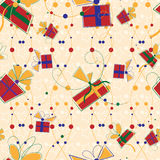 Seamless pattern with gifts Royalty Free Stock Photography