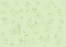Seamless pattern with gifts Royalty Free Stock Photos