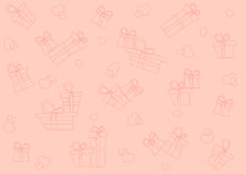 Seamless pattern with gifts Stock Images