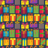 Seamless pattern with gifts. Royalty Free Stock Photos