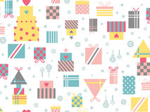 Seamless pattern with gifts in pastel colors Stock Photography
