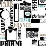 Seamless pattern gifts of perfume and cosmetics retro background Stock Images