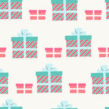 Seamless pattern of gifts and presents Stock Photos