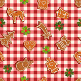 Seamless pattern with gingerbread Royalty Free Stock Image