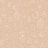 Seamless pattern with gingerbread cookies royalty free illustration