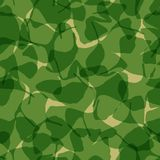 Seamless pattern with ginkgo biloba leaves, adstract leaf silhouette. Vector stock illustration