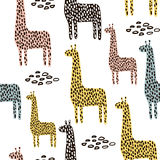Seamless pattern with giraffe. Childish texture for fabric, textile. Vector background Royalty Free Stock Image
