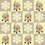 Seamless pattern with giraffes and flowers. Royalty Free Stock Photography