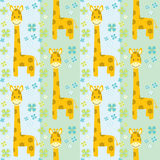 Seamless pattern with giraffes Royalty Free Stock Images