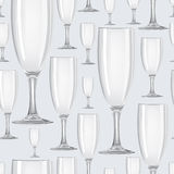 Seamless pattern with glasses Stock Photos