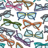 Seamless  pattern with glasses Royalty Free Stock Photo