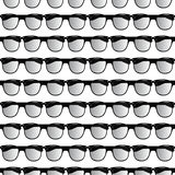 Seamless pattern of glasses. Circle look sun Stock Images