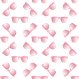 Seamless pattern of glasses Royalty Free Stock Photography