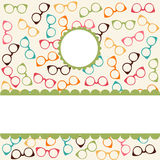 Seamless pattern with glasses Royalty Free Stock Images