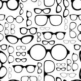 Seamless pattern from glasses Stock Photo