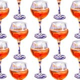 Seamless pattern with glasses of orange juice stock image