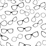 Seamless pattern with glasses Royalty Free Stock Image