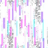 Seamless pattern with glitch distortion effect. Color print on white background stock illustration