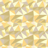 Seamless pattern with glitter gold triangles. Abstract mosaic background. Geometric  illustration. Yellow backdrop. Seamless pattern with glitter gold triangles Royalty Free Stock Photos