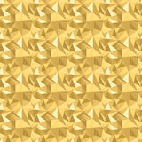 Seamless pattern with glitter gold triangles. Abstract mosaic background. Geometric  illustration. Yellow backdrop. Seamless pattern with glitter gold triangles Royalty Free Stock Photo
