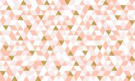 Seamless pattern with glitter gold triangles Royalty Free Stock Photos