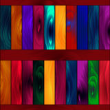 Seamless pattern, glowing colored paint wooden boards. Royalty Free Stock Photography