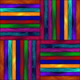 Seamless pattern, glowing colored paint wooden boards. Stock Images