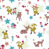 Seamless pattern with gnomes Stock Images
