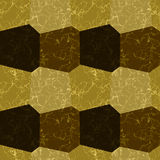 Seamless pattern of gold and brown marble structure Stock Photography