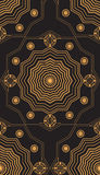 Seamless pattern with gold carved tracery on a dark background Royalty Free Stock Photo