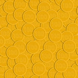 Seamless pattern of gold coins Stock Photos