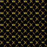 Seamless pattern with gold crowns Stock Photography