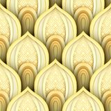 Seamless Pattern with Gold Ethnic Motifs Royalty Free Stock Photography