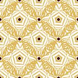Seamless pattern with gold ethnic ornament. Endless ornamental texture. Can be used for wallpaper, pattern fills, Stock Images