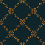 Seamless pattern of gold floral baroque ornament Royalty Free Stock Photos