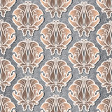 Seamless pattern with gold flowers Stock Photos