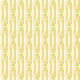 Seamless pattern with gold geometric patterns on a white background. Stock Images