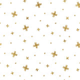 Seamless pattern of gold glitter crosses Royalty Free Stock Photos