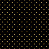 Seamless pattern with gold glitter polka dot ornament on black background Royalty Free Stock Photography