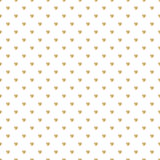 Seamless pattern with gold glitter polka dot ornament on white background Stock Image