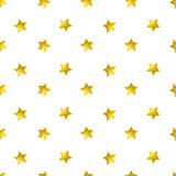 Seamless pattern with gold glitter stars. Vector background Stock Photos