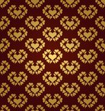 Seamless pattern. Gold hearts Stock Image