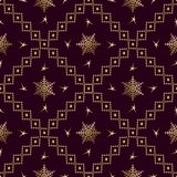 Seamless pattern Gold ornament on a brown background  Merry Christmas and Happy New Yea  46
